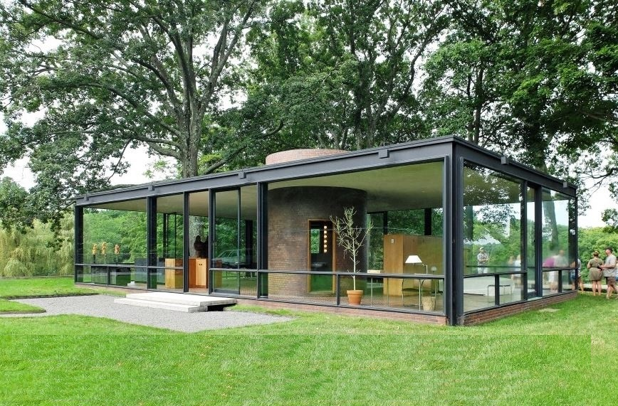 House glass de Philip Johnson construite en 1949